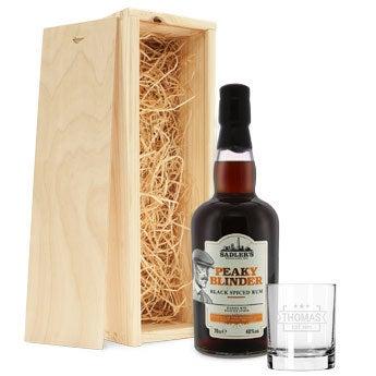 Peaky Blinders rum set (ryté puzdro)