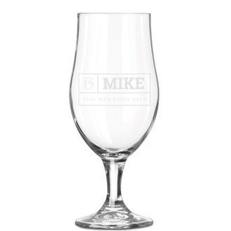 Beer glass on foot