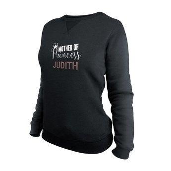 Egyéni pulóver - Nők - Fekete - XXL