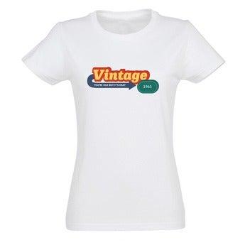 T-shirt - Vrouw - Wit - XXL