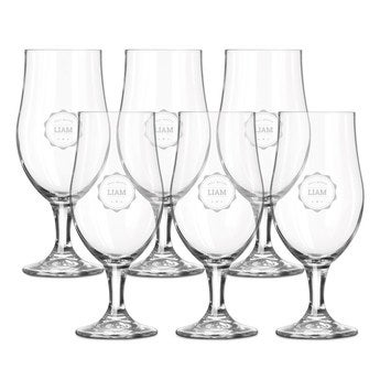 Beer glass on foot - set of 6
