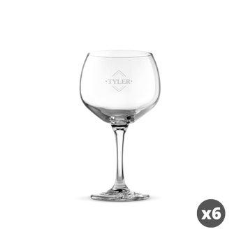 Gin Tonic Glas mit Gravur (6 Stück)