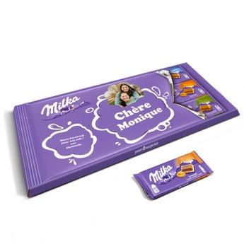 Méga tablette Milka personnalisée