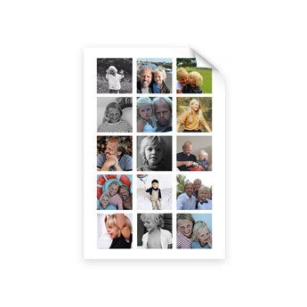 Papa en ik - Foto collage poster (50x75)