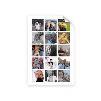 Pappa og meg - Bilde collage plakat (50x75)