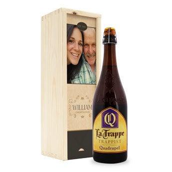 Birra Quadrupel La Trappe - Scatola personalizzata