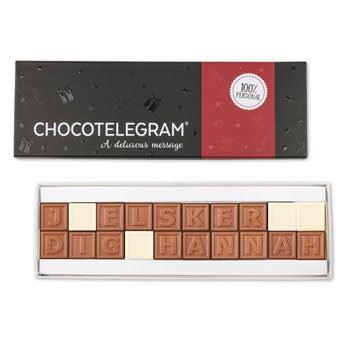 Chokolade telegram - 20 tegn