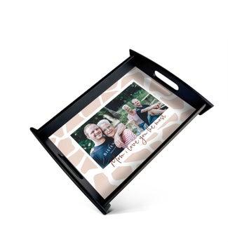 Fototablett zum Muttertag - Schwarz - Medium