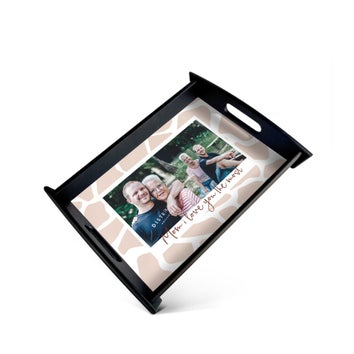Mother's Day serving tray - Black - Medium