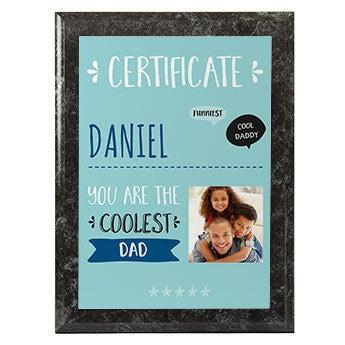 Certificado para el mejor padre