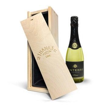 Vinho com caixa personalizada - Vintense Blanc Fines Bulles