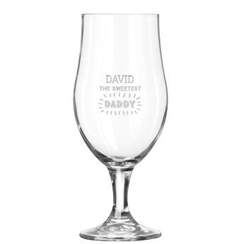 Father's Day beer glass on foot