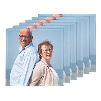 Personlige servietter - 40 x 40 cm (sett med 6)