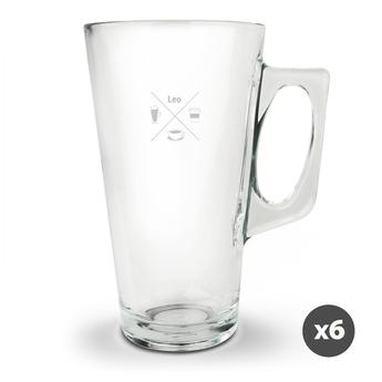 Latte macchiato-glas - 6 stykker