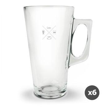 Latte Macchiato Glas - Set von 6