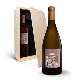 Vino con Etichetta Stampata - Primus Malbec e Chardonnay