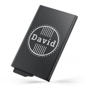 Portatarjetas personalizado - Metálico