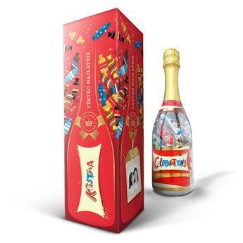 Fľaša so sladkosťamii - Celebrations