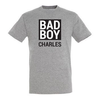 T-shirt - Mænd - Grå melange - XL