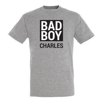 T-shirt - Mænd - Grå melange - XXL