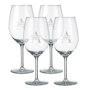 Rood wijnglas - 4 stuks