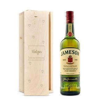 Jameson Whisky in gravierter Kiste