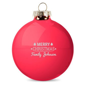 Personalised glass baubles - Red (2 pieces)