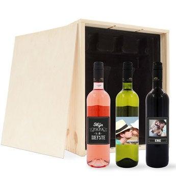 Vaderdag wijnpakket met etiket - Luc Pirlet - Merlot, Syrah en Sauvignon