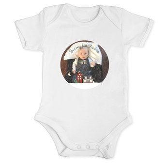 Body de manga larga para bebés - Primera Navidad - Blanco (74/80)