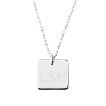 Collier argent initiales