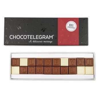 Čokoládový telegram - 20 znaků