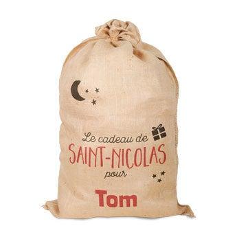 Sac en jute personnalisé - Saint-Nicolas