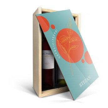 Luc Pirlet - Merlot en Chardonnay - In bedrukte kist