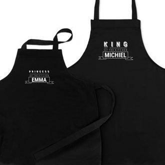 Sett med kjøkkenforklær - Far og barn