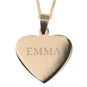 Name Pendant - Heart (Gold-plated)