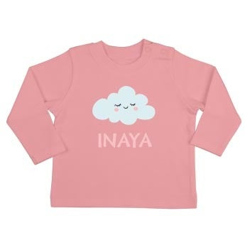 T-shirt bébé - Manches longues - Rose pâle