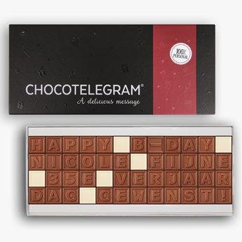 Choklad meddelande - 48 bokstäver