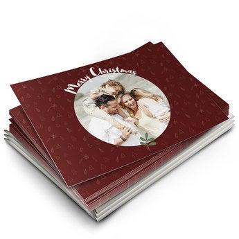 Yksilölliset joulukortit kuvalla