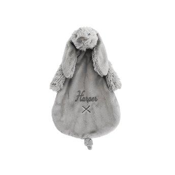 Personalised Rabbit Richie baby tuttle - Grey