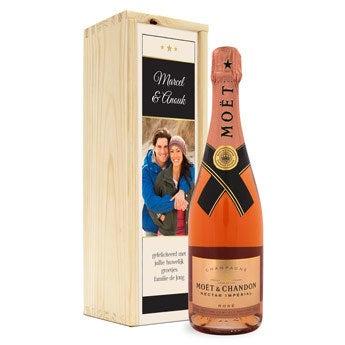Moët & Chandon Nectar rosé - In bedrukte kist