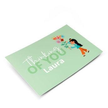 Cartão com foto - apenas uma nota
