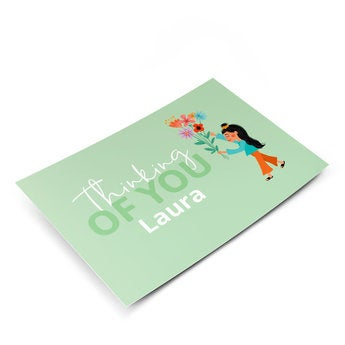 Postkarte mit Foto - Einfach so