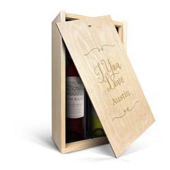 Confezione Incisa Vino Oude Kaap - Bianco e Rosso