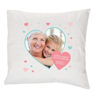 Almofada estampada para a avó - Branco