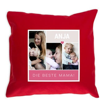 Kissen Muttertag -  Rot