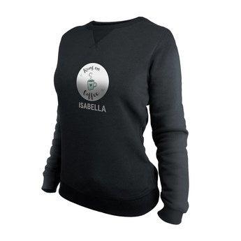 Brugerdefineret sweatshirt - Kvinder - Sort - XL