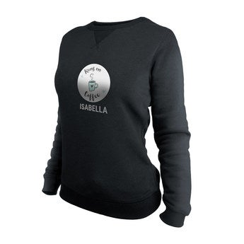 Egyéni pulóver - Nők - Fekete - XL