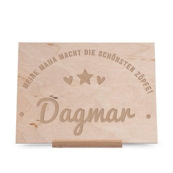 Holzkarte mit Gravur - Muttertag (horizontal)