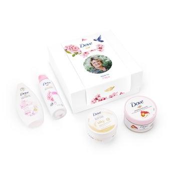 Conjunto personalizado de banho Dove - Pampering Rosie