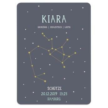 Geburtsposter Sternzeichen